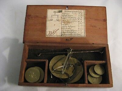 18th.C. Boxed Coin  Scales