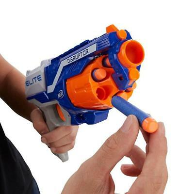 Nerf Guns N-Strike Elite Disruptor Toy Soft Dart Gun Slam-fire action 6 Darts