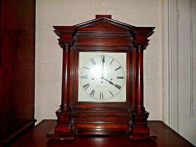 Monumental C1830 T Hammond Regency Rosewood Triple Fusee Boardroom Clock 8 Bells