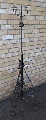 Antique Vintage Iron Standing Gas Lamp Ornate