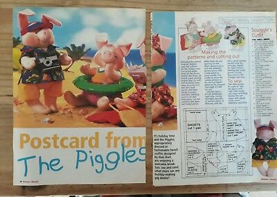 Alan Dart Postcard from the Piggles Toy knitting pattern