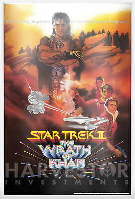 2018 Star Trek: The Wrath Of Khan -  Premium Silver Foil 35 Grams Silver Poster