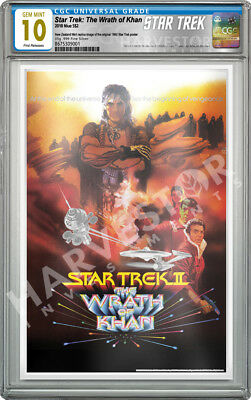 2018 Star Trek - The Wrath Of Khan - Silver Foil - Cgc 10 Gem Mint First Release