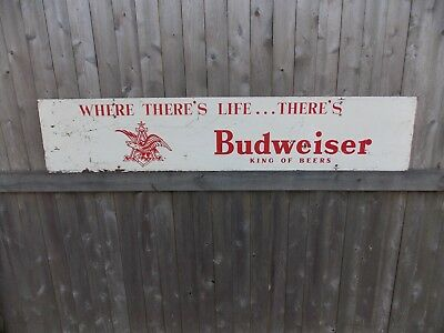 Vintage Metal Budweiser Sign