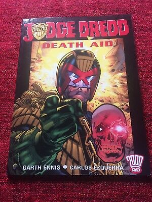 Judge Dredd (not 2000AD) Death Aid Graphic Novel First Edition