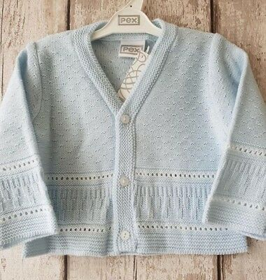 Pex Baby Boy Cardigan - Blue with White