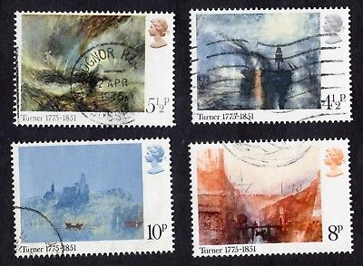 Great Britain: Birth Bicentenary of Turner (Artist); complete fine used set