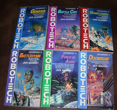 Robotech Novels Books Lot First Generation 1-6   Used