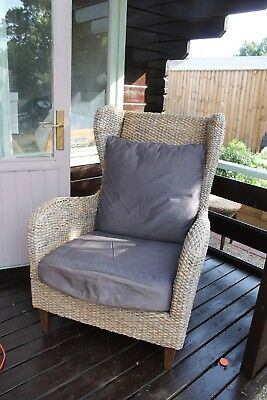 Pair of rattan conservatory armchairs - good quality and really comfy