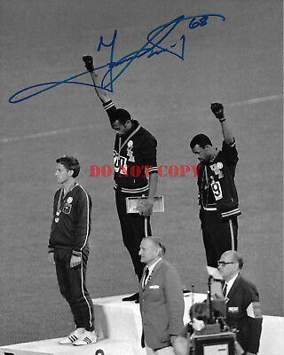 Tommie Smith Signed Autograph 8X10 Photo Coa Olympic Gold Usa 1968 Protest Rp