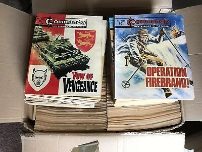 Job Lot Of 100 Old Commando Comics