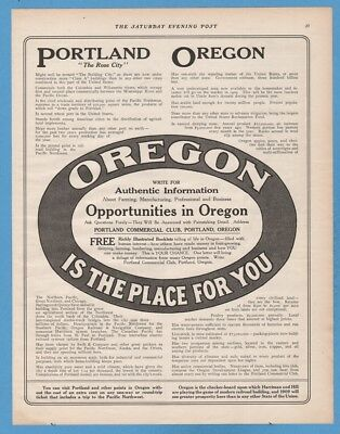 1909 Portland Oregon Is The Place For You Opportunities Rose City OR antique ad