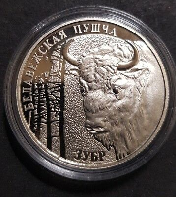 Belarus 2001 coin - 1 Rouble BYB - Zubr - Copper-Nickel - Proof like