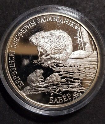 Belarus 2002 coin - 1 Rouble BYB - Beaver - Copper-Nickel - proof like