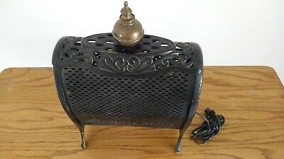 Antique 1910 Lawson Gem *10 Gas Space Heater Turned Lamp Free Shipping