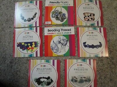 Clearout!  8 x DVDs - Jewellery Maker: Wire work, Friendly Plastic, Macrame etc