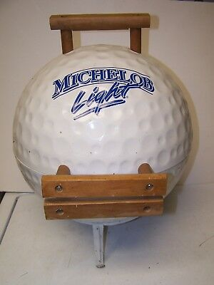 Michelob light Beer GOLF BALL SHAPED PROMO CHARCOAL GRILLE