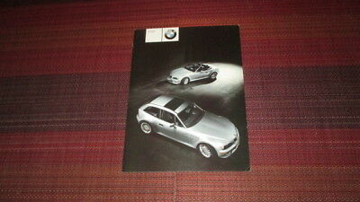 2000 BMW Z3 ROADSTER & COUPE 3.0i SALES BROCHURE.