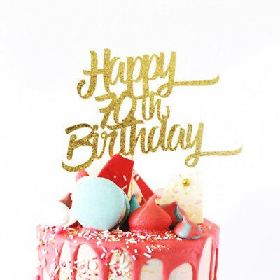 Miraculous Personalised Gold Glitter Card Age Birthday Cake Topper 70Th Funny Birthday Cards Online Aboleapandamsfinfo