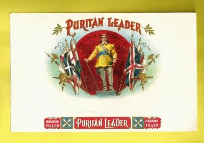 Vintage Cigar Box Label PURITAN LEADER HAVANA FILLER