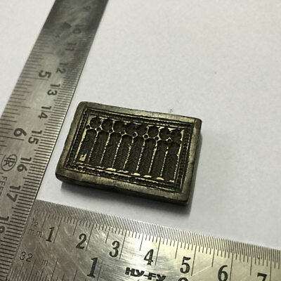 An antique old bell metal jewelry stamp die seal god and goddess patterns