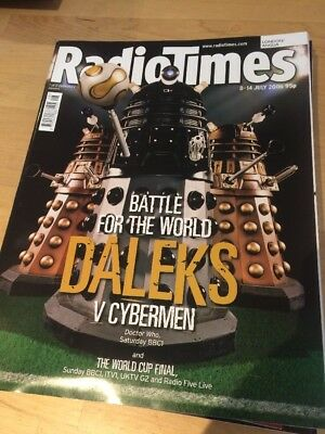 Doctor Dr Who Magazine Radio Times London 8 July 2006 Dalek World Cup Cover