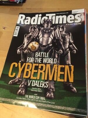 Doctor Dr Who Magazine Radio Times London 8 July 2006 Cybermen World Cup Cover