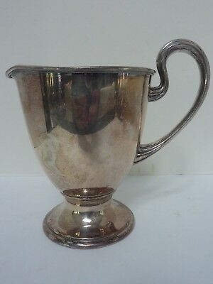 Vintage Apollo Sheffield B R S Nickel-Silver Pitcher #3180
