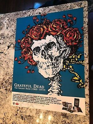 GRATEFUL DEAD THE GOLDEN ROAD 1965-1973 RARE NEW OLD STOCK 24 x 18 PROMO POSTER