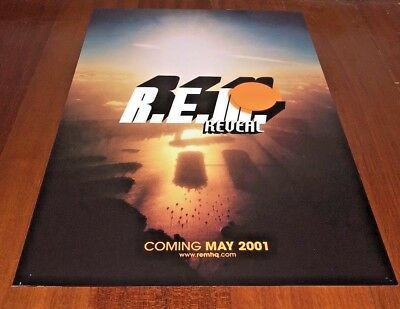 R.E.M. REM 2001 Promo Poster Ad COMING MAY 15th REVEAL NOS RARE ORIGINAL
