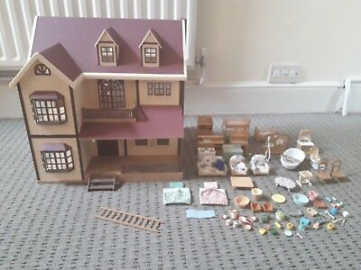 Sylvanian families oakwood manor house furniture and accessories bundle