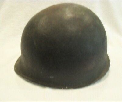 WW2 US Army front seam Fixed Bale M1 steel helmet with liner