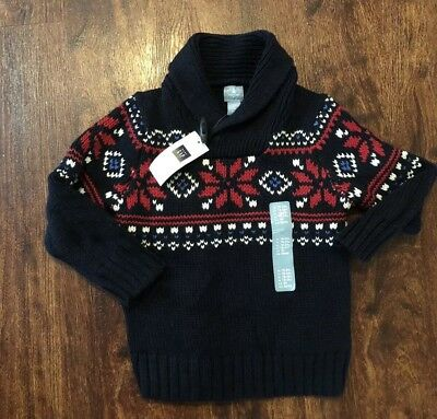 BabyGap Boys Winter Sweater 18-24 Months Fair Isle Wool New NWT