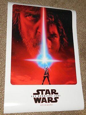 """Star Wars The Last Jedi """"FRENCH VER A"""" vg 27x40 Original D/S Movie Poster"""