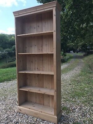 Large Antique, lovely warm honey colour pitch pine bookcase.