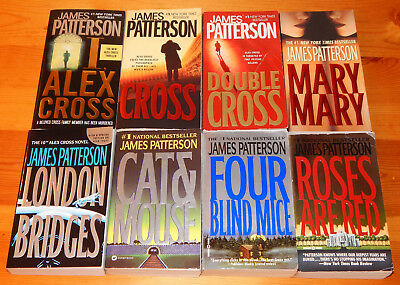 Lot of 8 JAMES PATTERSON Alex Cross Novels PB BOOKS Paperbacks Thrillers