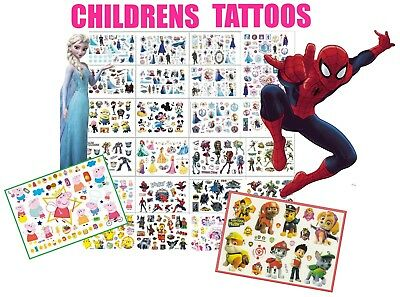Kids Temporary Tattoos Great for Party Bags lots of style
