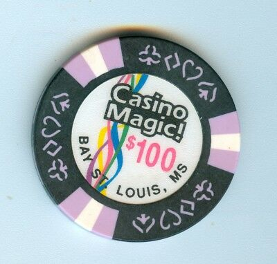 Obsolete 1990's Casino Magic Riverboat Casino Bay St Louis Mississippi $100 Chip