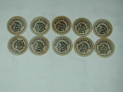 10 Wooden Nickel Indian Head