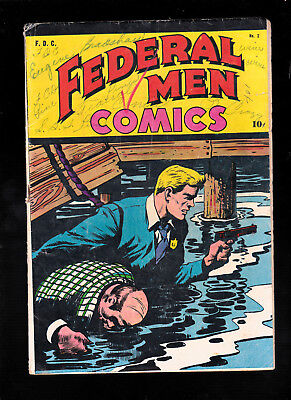 Federal Men Comics 2 Writing on cover 1945