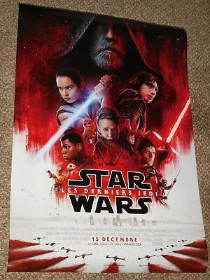 "Star Wars The Last Jedi ""FRENCH VER B"" ex 27x40 Original D/S Movie Poster"