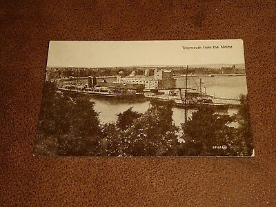 Early real photo postcard - Weymouth from the Nothe Dorset - shipping