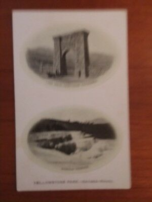 Vintage Postcard Yellowstone Park Lava Arch and Minerva Terrace