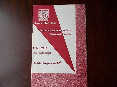 NORTHAMPTON TOWN v WEST BROMWICH ALBION 1966/67