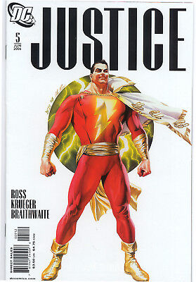 JUSTICE # 5 SHAZAM Cover  2006 VF/NM