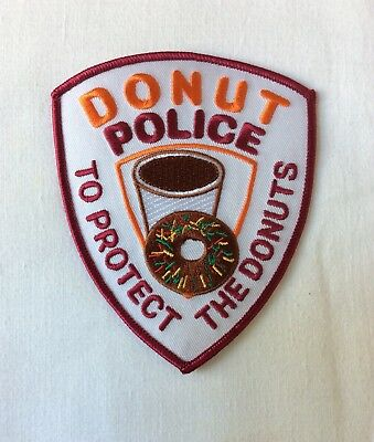 Abzeichen / Patch Donut Police - To Protect The Donuts