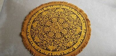 Vintage Retro 1970's Marks And Spencers Rug Round