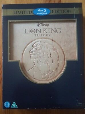 Disney The Lion King Trilogy Limited Edition Bluray Wooden Boxset. 3000 Numbered
