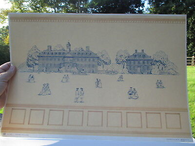 Dollhouse Miniatures ~ X-acto Tidewater Virginia Scene #41000 Wallpaper
