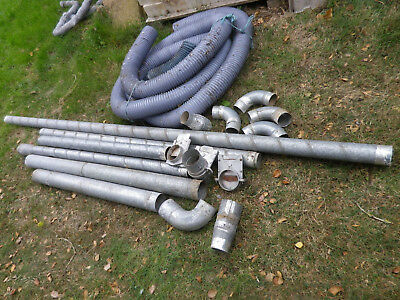 Dust Extractor Ducting Job Lot Of Rigid And Flexible Ducting Gates Etc.
